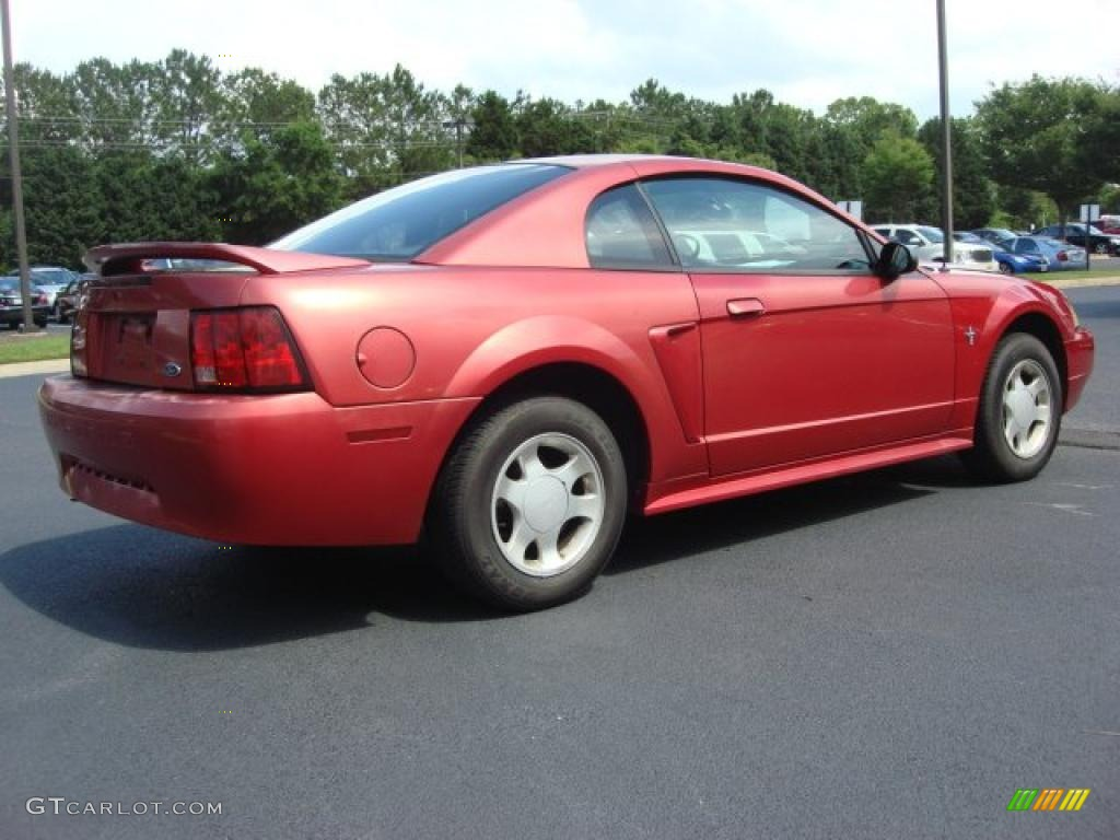 2000 Mustang V6 Coupe - Performance Red / Medium Parchment photo #5