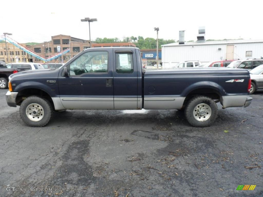 deep wedgewood blue metallic 1999 ford f250 super duty xlt extended cab 4x4 exterior photo. Black Bedroom Furniture Sets. Home Design Ideas