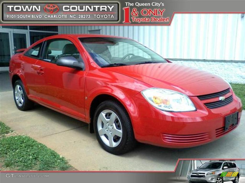 2007 Cobalt LS Coupe - Victory Red / Gray photo #1