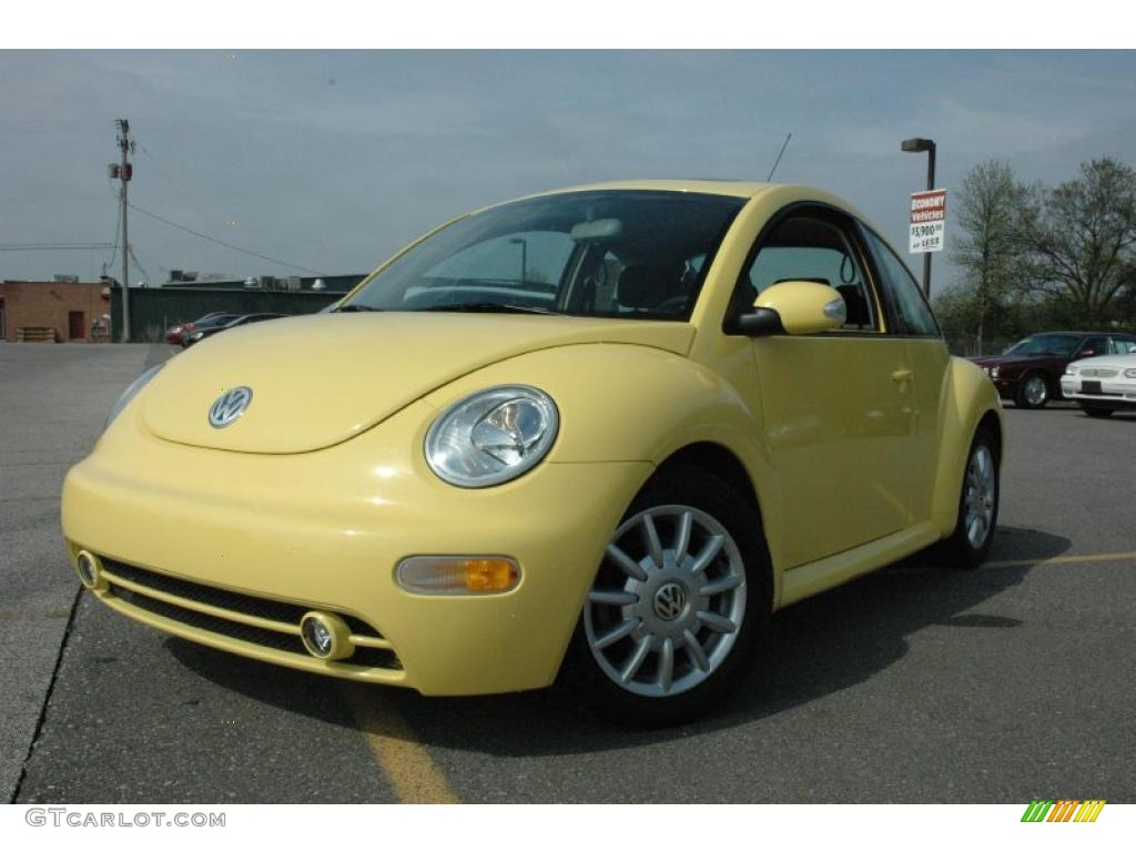 sunflower yellow 2004 volkswagen new beetle gls coupe exterior photo 49551869. Black Bedroom Furniture Sets. Home Design Ideas