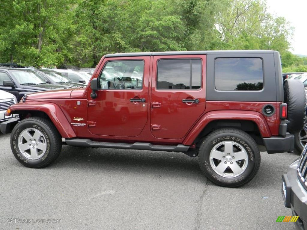 Red Rock Crystal Pearl 2010 Jeep Wrangler Unlimited Sahara 4x4 Exterior Photo 49563359