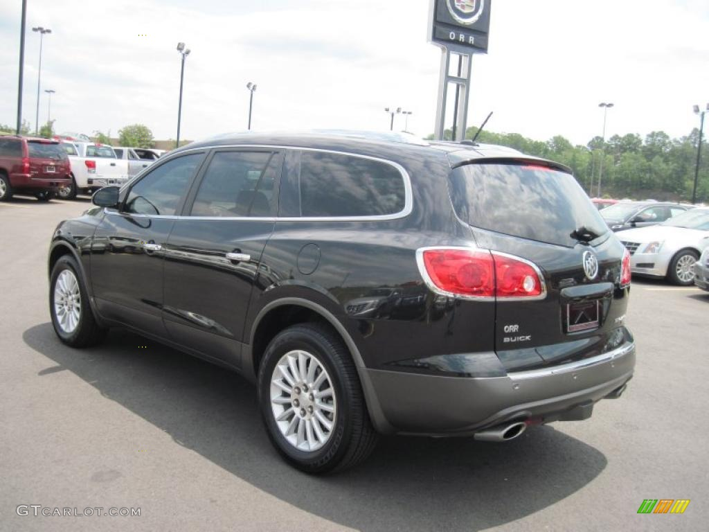 2008 Enclave CXL - Carbon Black Metallic / Titanium/Dark Titanium photo #3