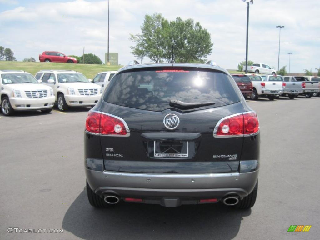 2008 Enclave CXL - Carbon Black Metallic / Titanium/Dark Titanium photo #4