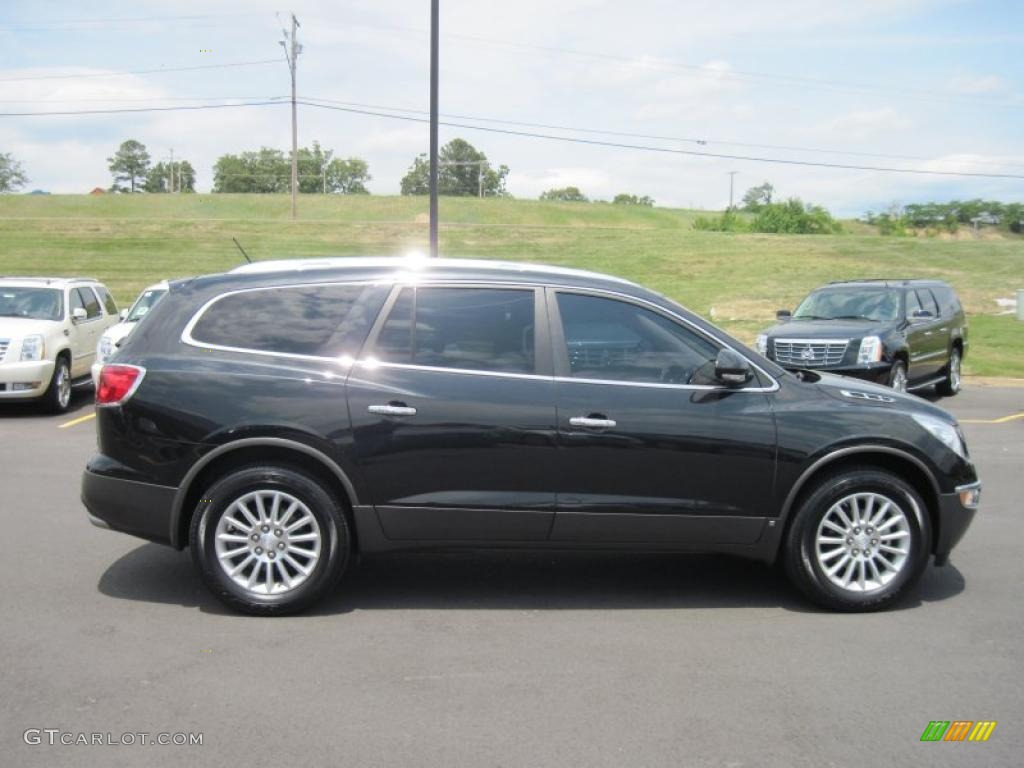 2008 Enclave CXL - Carbon Black Metallic / Titanium/Dark Titanium photo #6