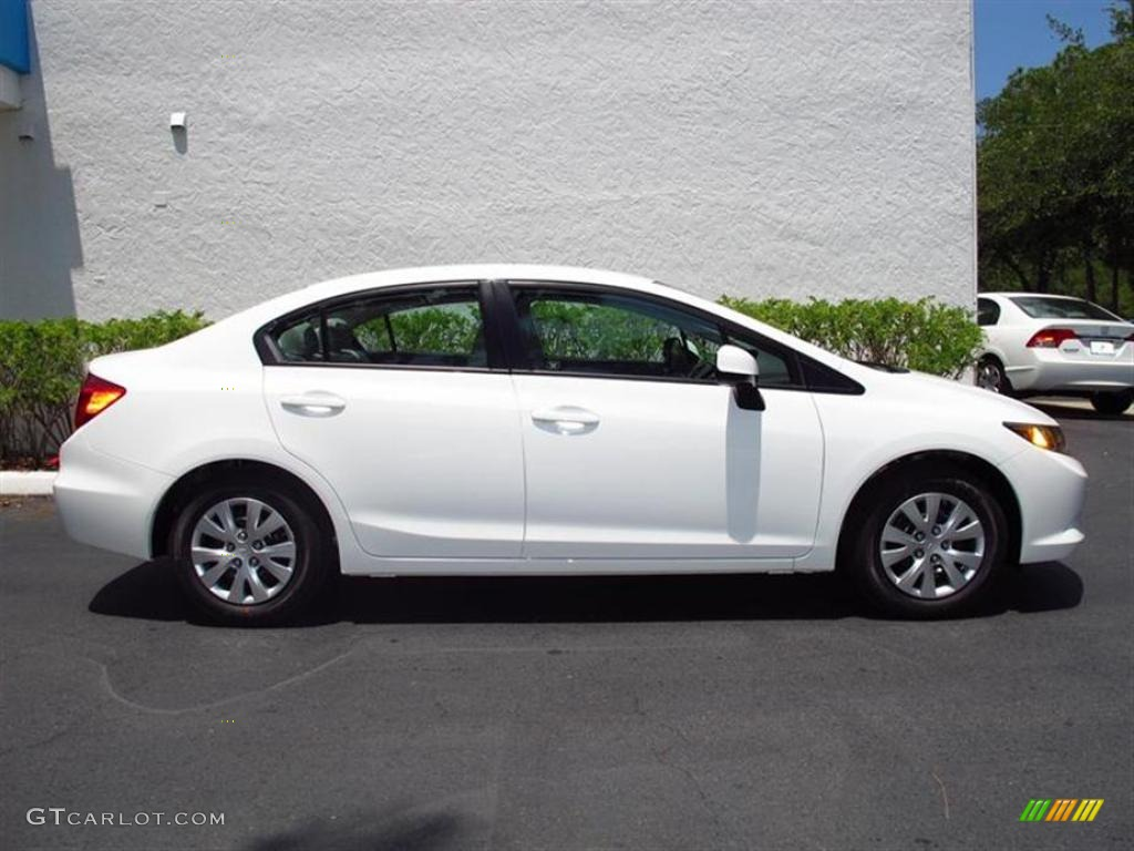 taffeta white 2012 honda civic lx sedan exterior photo 49566802. Black Bedroom Furniture Sets. Home Design Ideas
