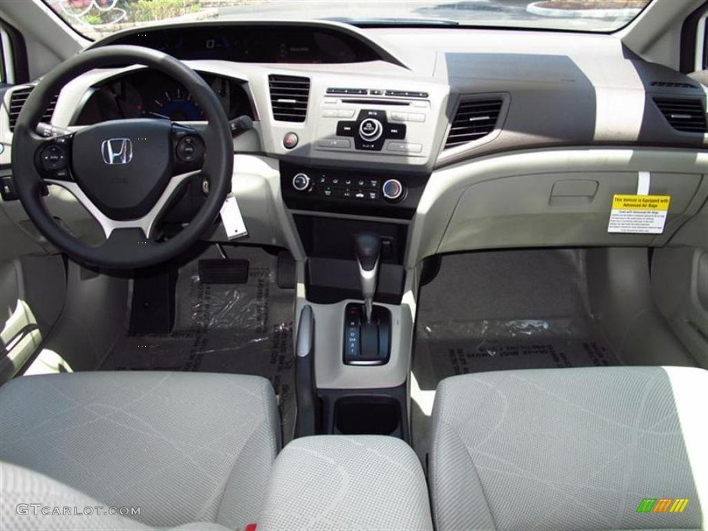Stone Interior 2012 Honda Civic LX Sedan Photo #49566832
