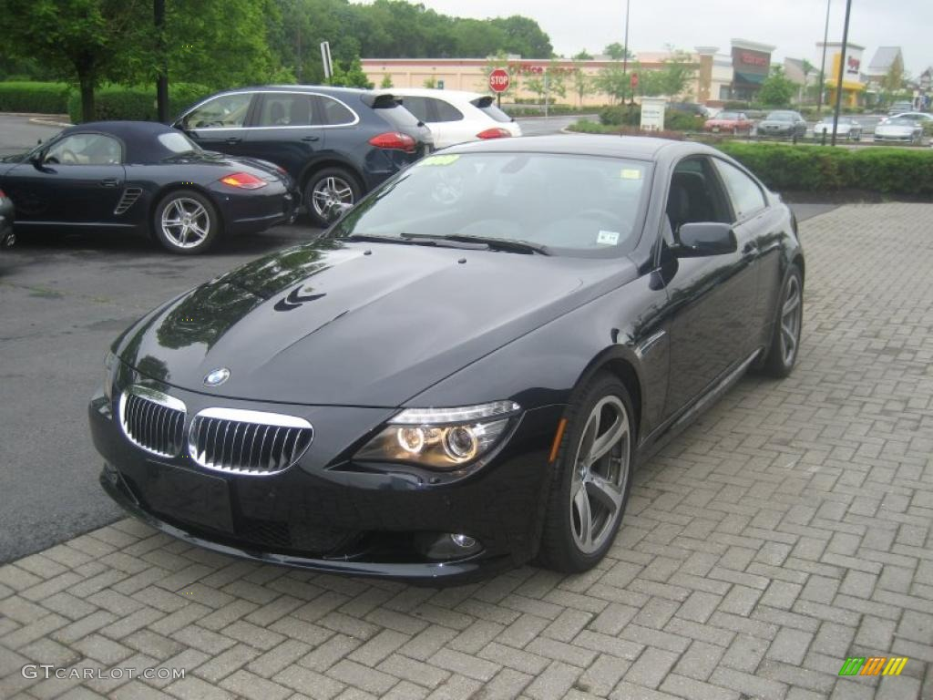 jet black 2009 bmw 6 series 650i coupe exterior photo. Black Bedroom Furniture Sets. Home Design Ideas