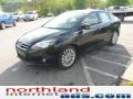 2012 Tuxedo Black Metallic Ford Focus Titanium Sedan  photo #4