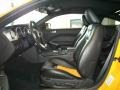 Black/Orange 2007 Ford Mustang Interiors