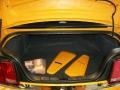 2007 Ford Mustang Black/Orange Interior Trunk Photo