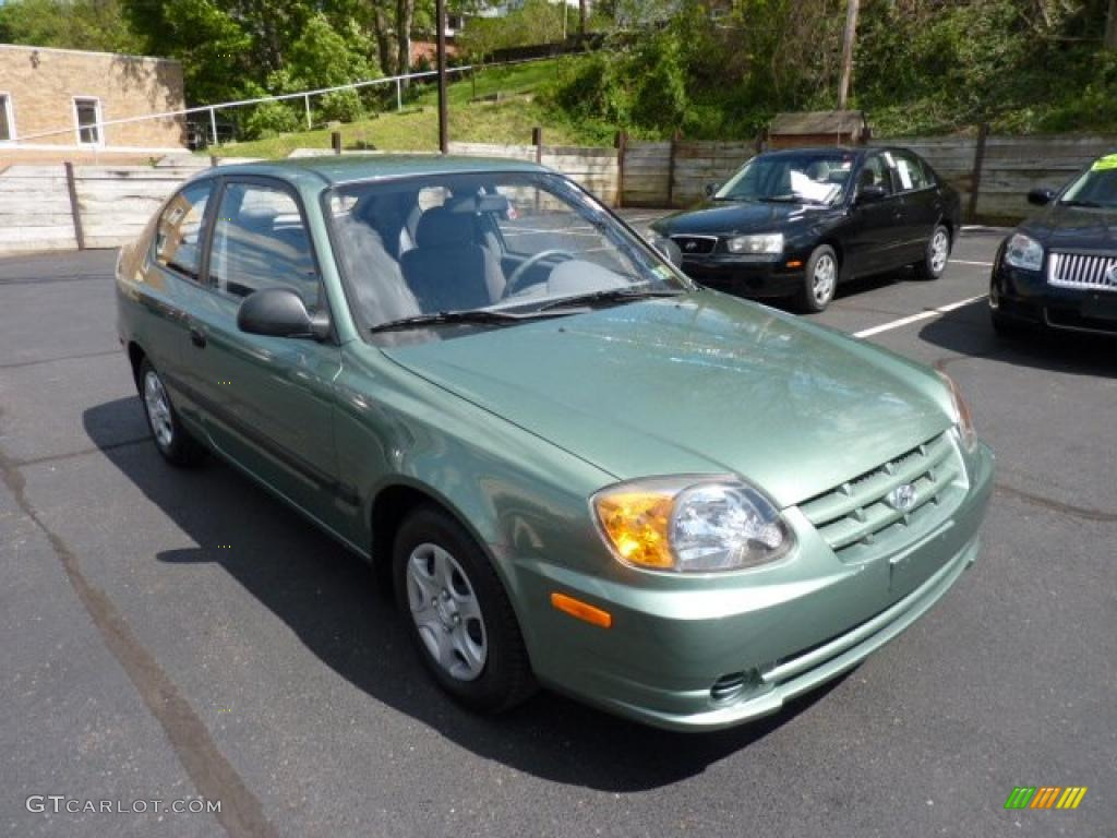 Quartz Green Metallic 2003 Hyundai Accent GL Coupe