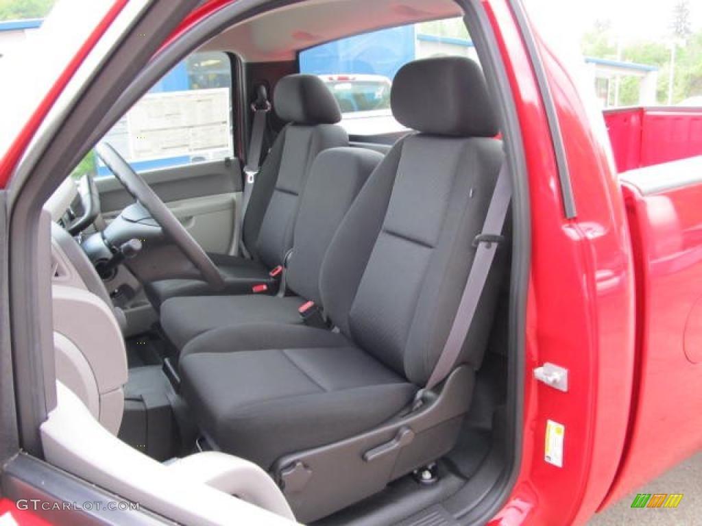 Dark Titanium Interior 2011 Chevrolet Silverado 1500 Regular Cab 4x4 Photo #49590595