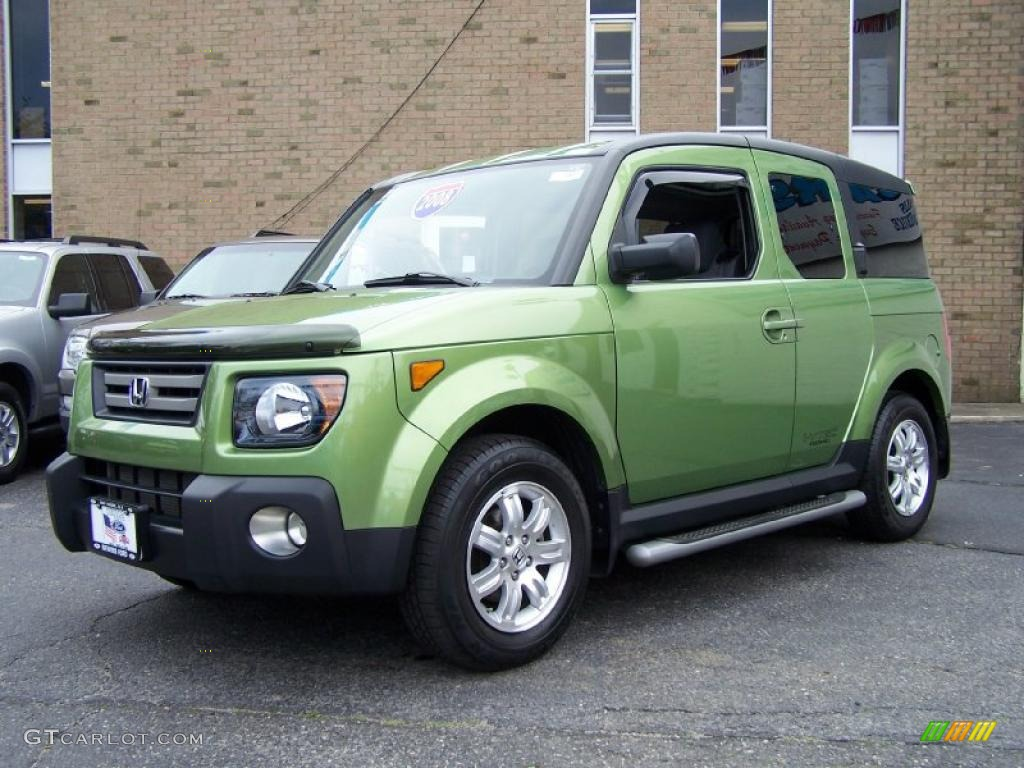 2008 kiwi green metallic honda element ex awd 49566414
