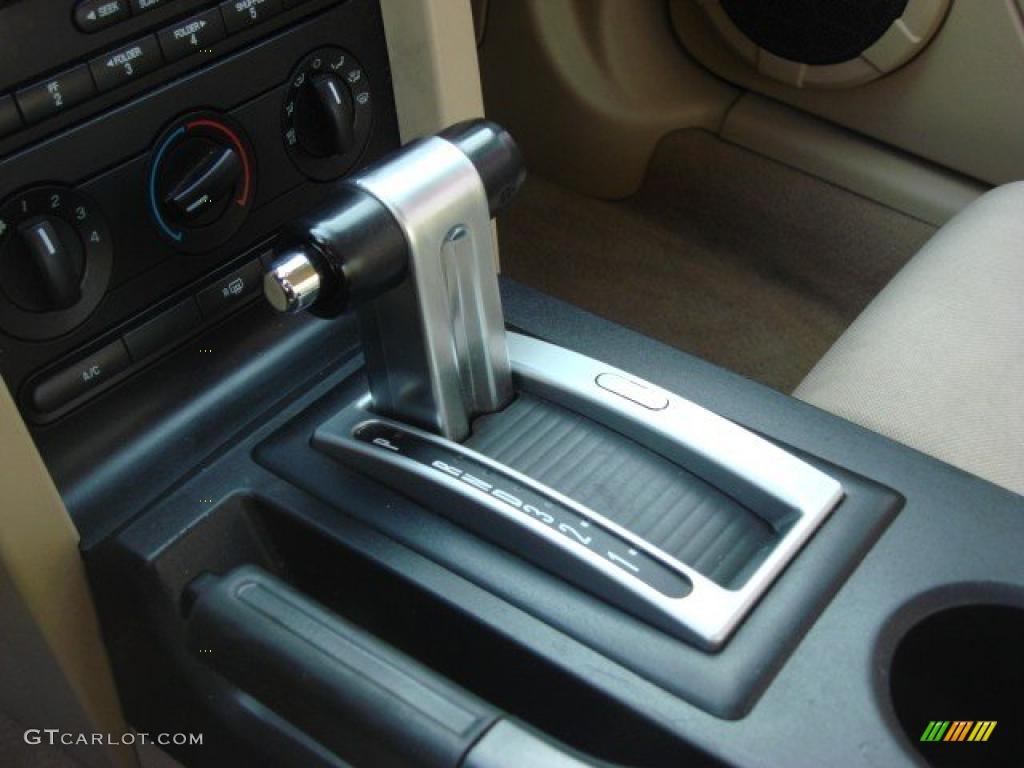 2007 Mustang V6 Premium Coupe - Vista Blue Metallic / Medium Parchment photo #13