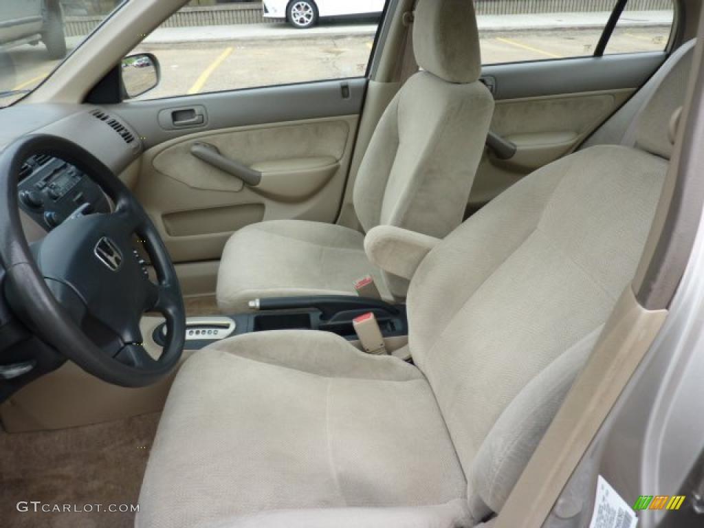 Beige Interior 2001 Honda Civic Ex Sedan Photo 49624744