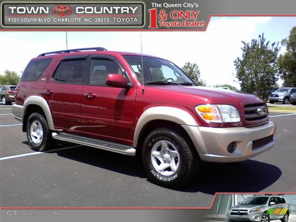 Sunfire red pearl toyota sequoia