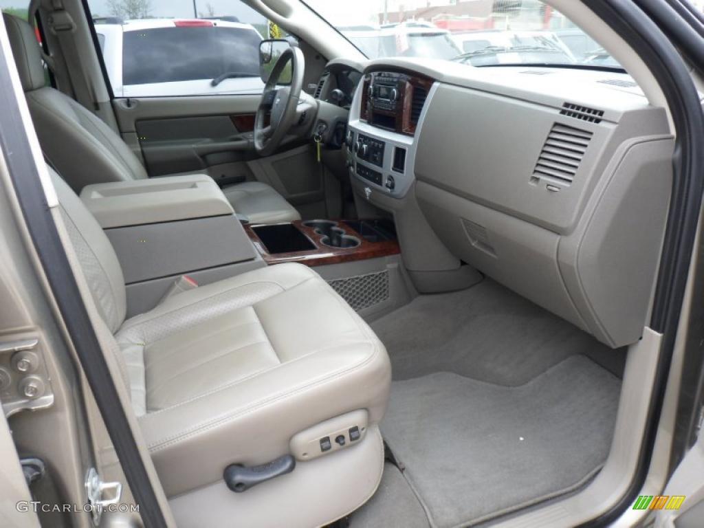 Khaki Interior 2008 Dodge Ram 2500 Laramie Mega Cab 4x4