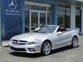 Silver Arrow Silver Metallic 2009 Mercedes-Benz SL 550 Silver Arrow Edition Roadster