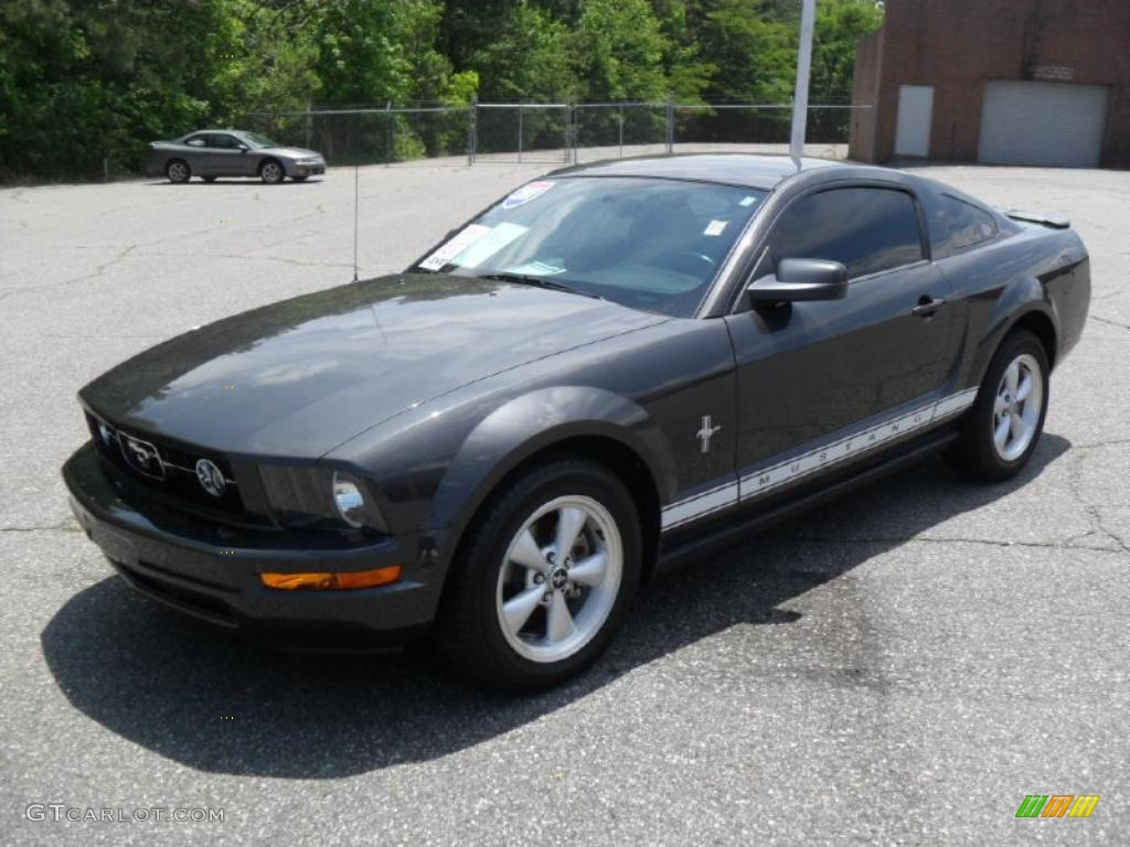 2007 Mustang V6 Premium Coupe - Alloy Metallic / Dark Charcoal photo #1