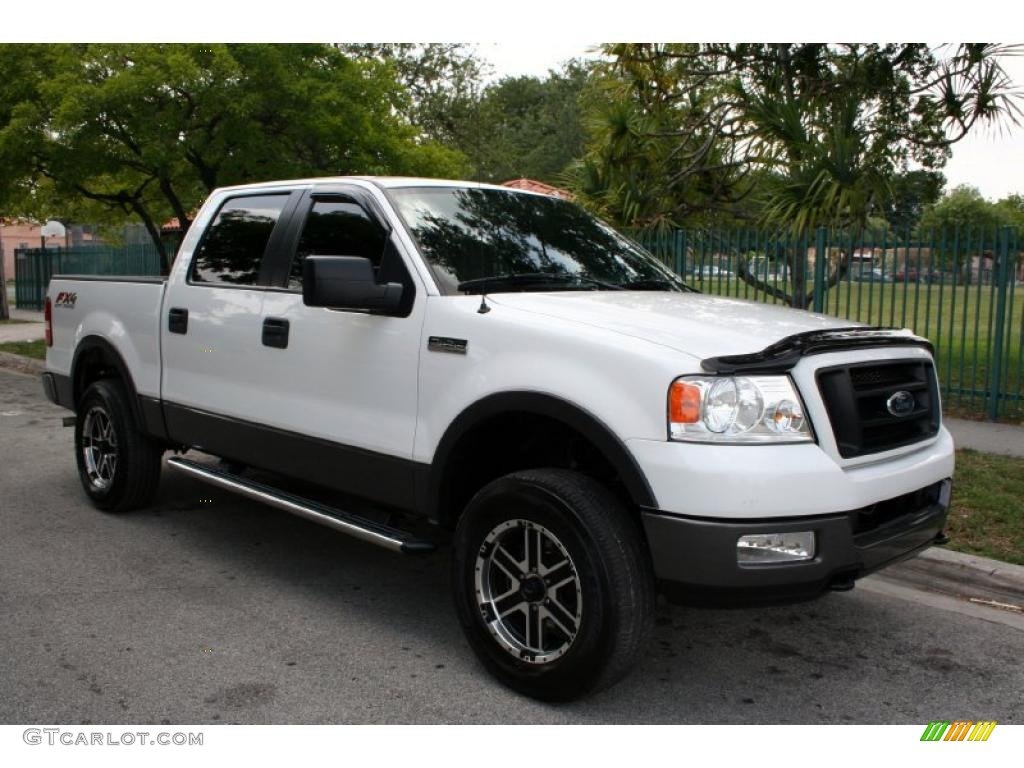 oxford white 2005 ford f150 fx4 supercrew 4x4 exterior. Black Bedroom Furniture Sets. Home Design Ideas