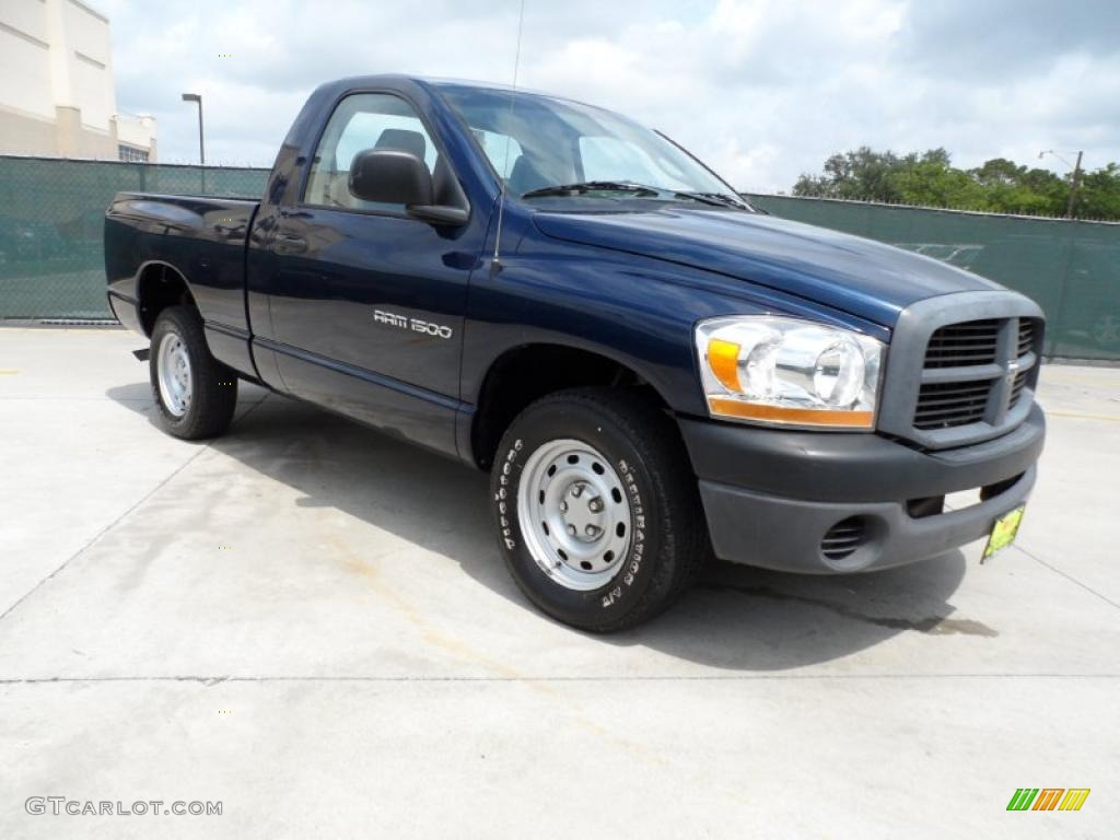 2006 Ram 1500 ST Regular Cab - Patriot Blue Pearl / Medium Slate Gray photo #1