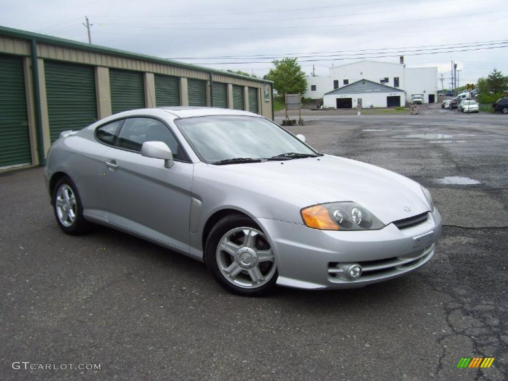 Super Silver 2003 Hyundai Tiburon Gt V6 Exterior Photo