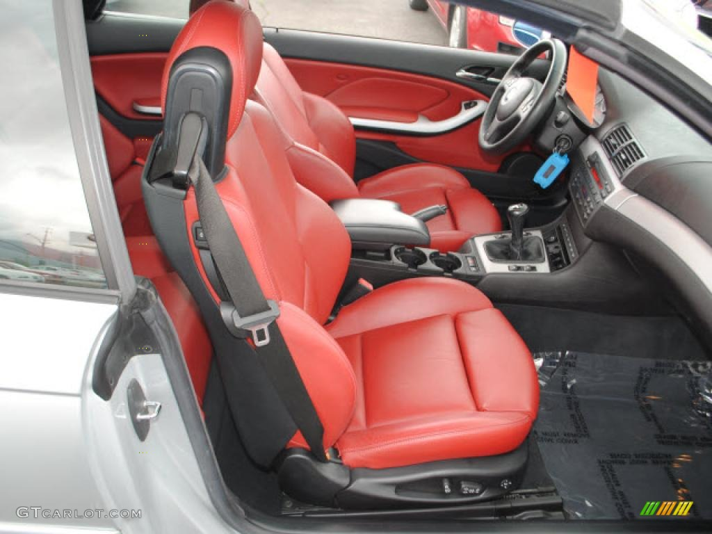Imola Red Interior 2005 Bmw M3 Convertible Photo 49699507