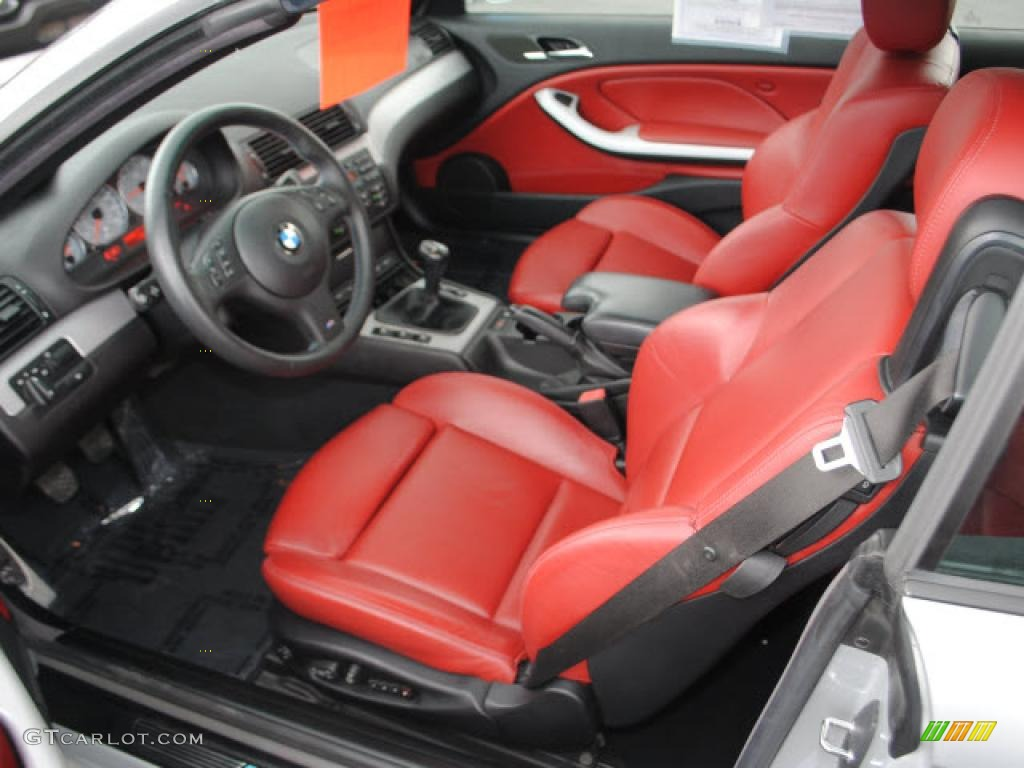 Imola Red Interior 2005 Bmw M3 Convertible Photo 49699636