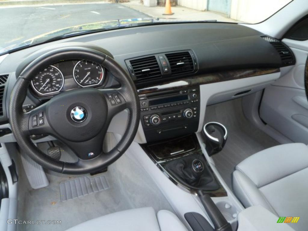 Grey Interior 2008 Bmw 1 Series 135i Coupe Photo 49707901