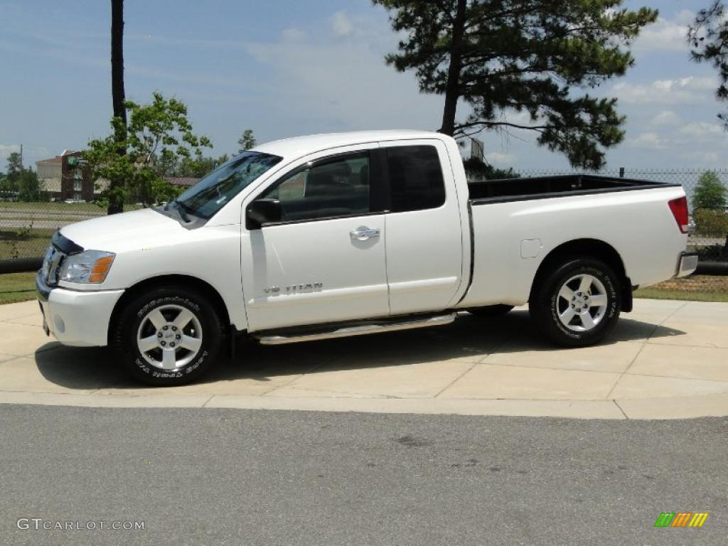 white 2007 nissan titan se king cab exterior photo 49708438. Black Bedroom Furniture Sets. Home Design Ideas