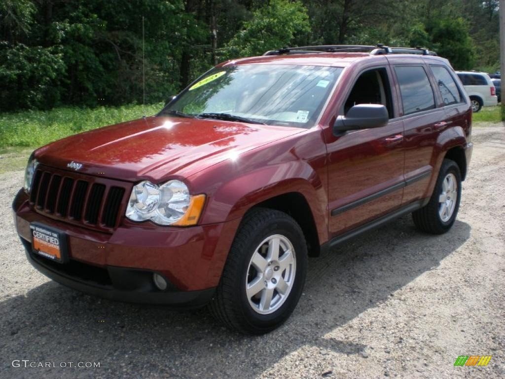 2008 red rock crystal pearl jeep grand cherokee laredo 4x4 49694829 gtcarlot com car color