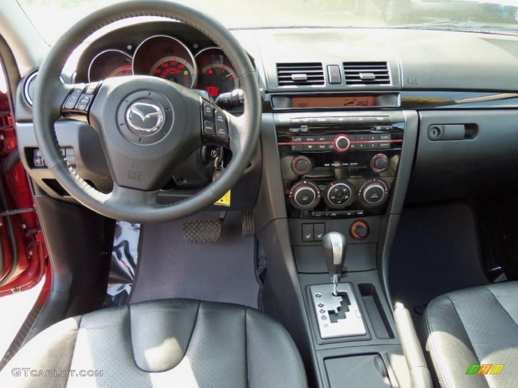 2008 Mazda Mazda3 S Grand Touring Hatchback Black Dashboard Photo 49713076