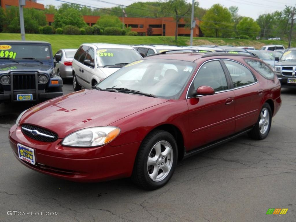 2002 matador red metallic ford taurus se wagon 49695450. Black Bedroom Furniture Sets. Home Design Ideas