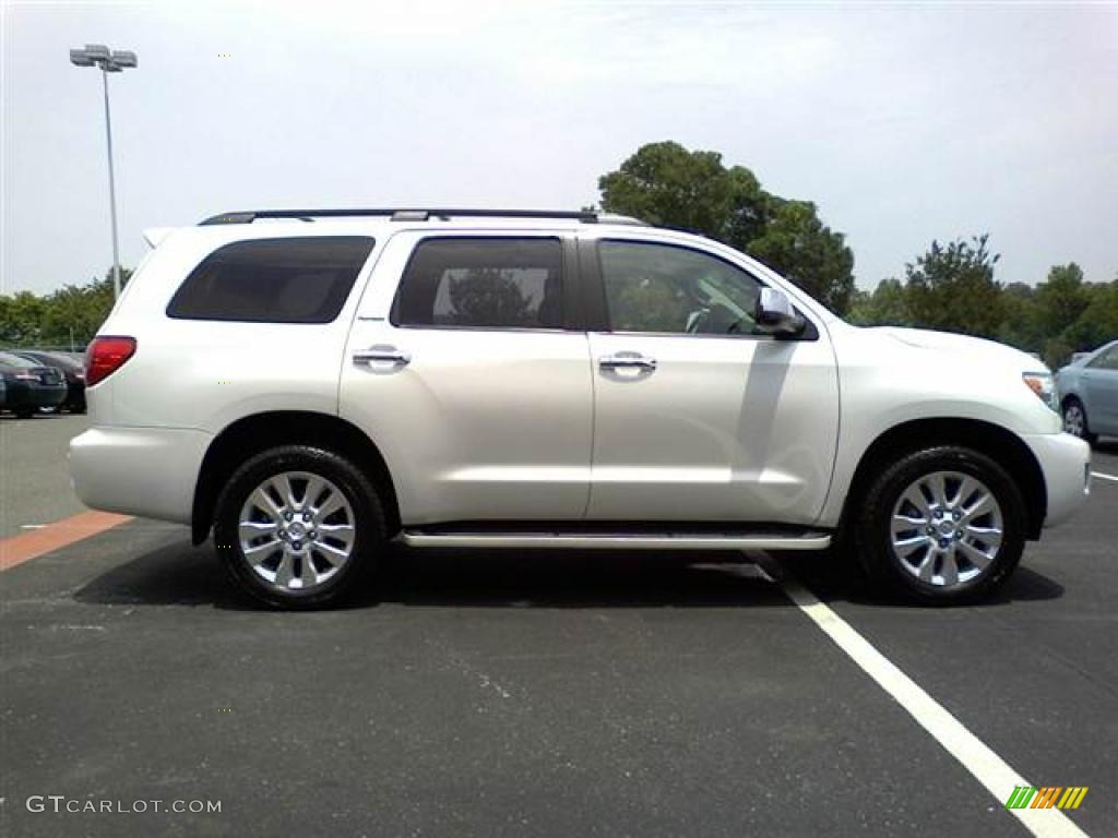 arctic frost pearl 2008 toyota sequoia platinum 4wd. Black Bedroom Furniture Sets. Home Design Ideas