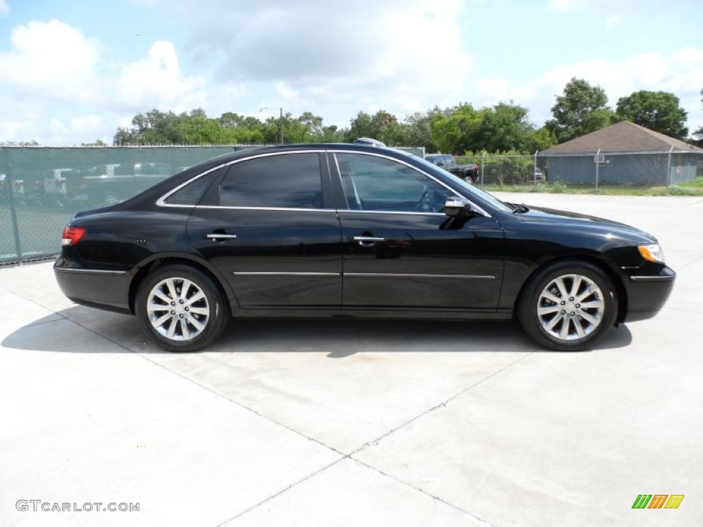black onyx pearl 2009 hyundai azera limited exterior photo. Black Bedroom Furniture Sets. Home Design Ideas