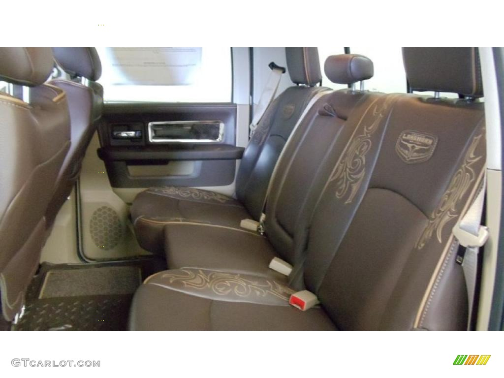 Light pebble beige bark brown interior 2011 dodge ram 1500 laramie longhorn crew cab 4x4