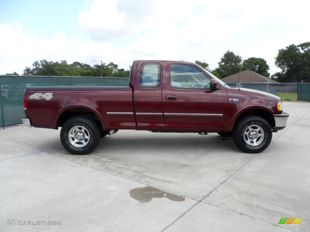 dark toreador red metallic 1997 ford f150 xlt extended cab 4x4 exterior photo 49747195. Black Bedroom Furniture Sets. Home Design Ideas