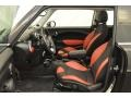Black/Rooster Red Interior Photo for 2009 Mini Cooper #49765813