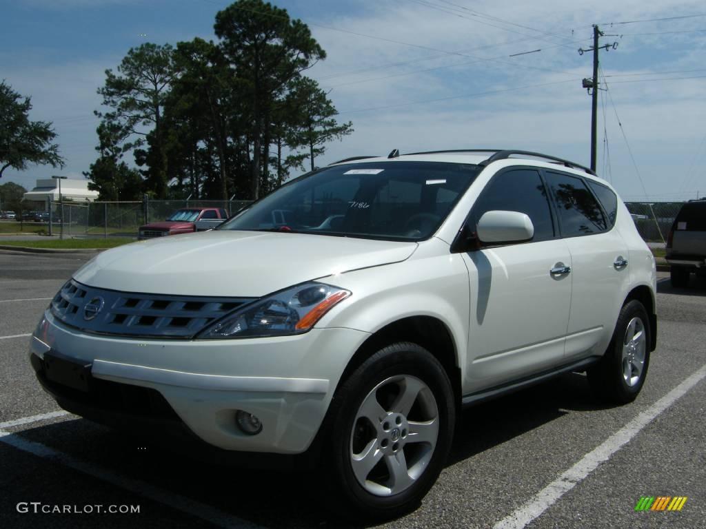 2004 Glacier Pearl White Nissan Murano Sl Awd 442879