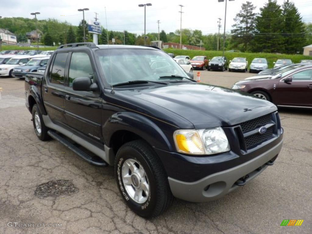 deep wedgewood blue metallic 2002 ford explorer sport trac 4x4. Cars Review. Best American Auto & Cars Review
