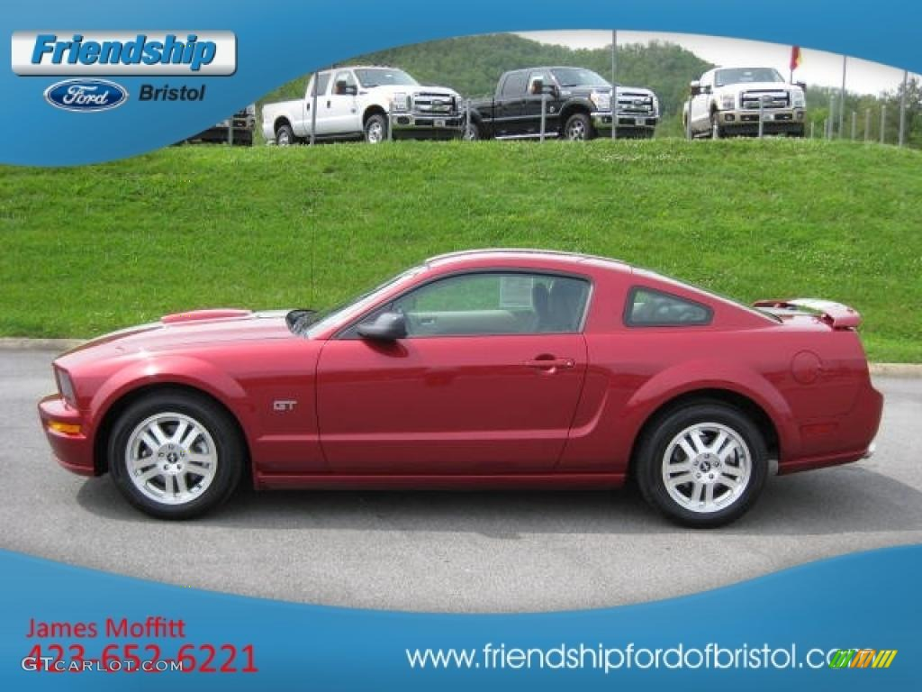2007 Mustang GT Premium Coupe - Redfire Metallic / Black/Parchment photo #1
