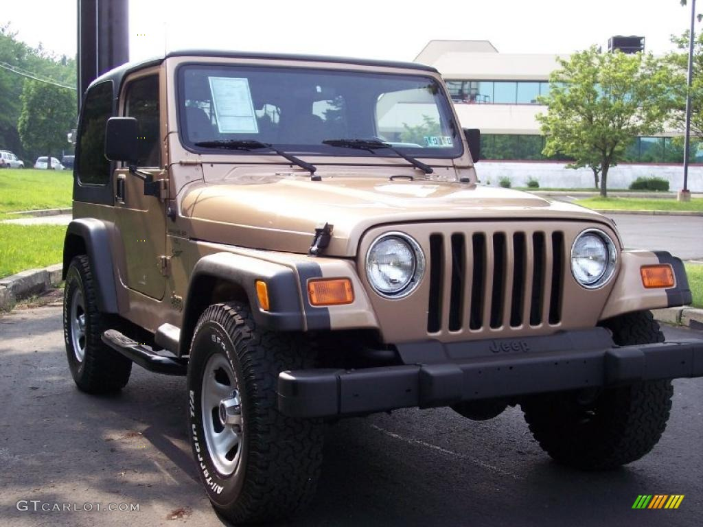 2000 desert sand pearl jeep wrangler sport 4x4 49799222