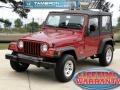 1998 Chili Pepper Red Pearl Jeep Wrangler SE 4x4 #49799598