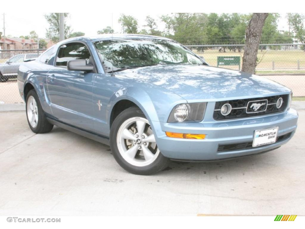 2007 Mustang V6 Premium Coupe - Windveil Blue Metallic / Light Graphite photo #1