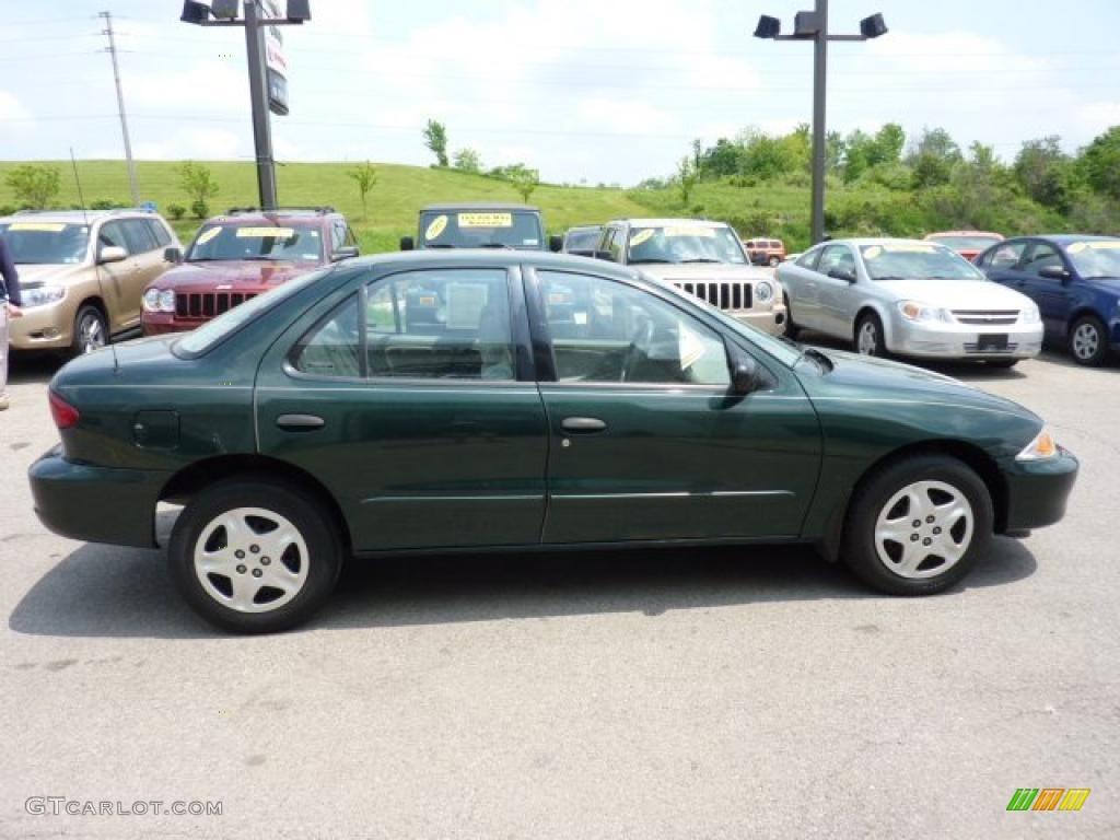 Forest green metallic 2002 chevrolet cavalier ls sedan for 2002 chevy cavalier window motor