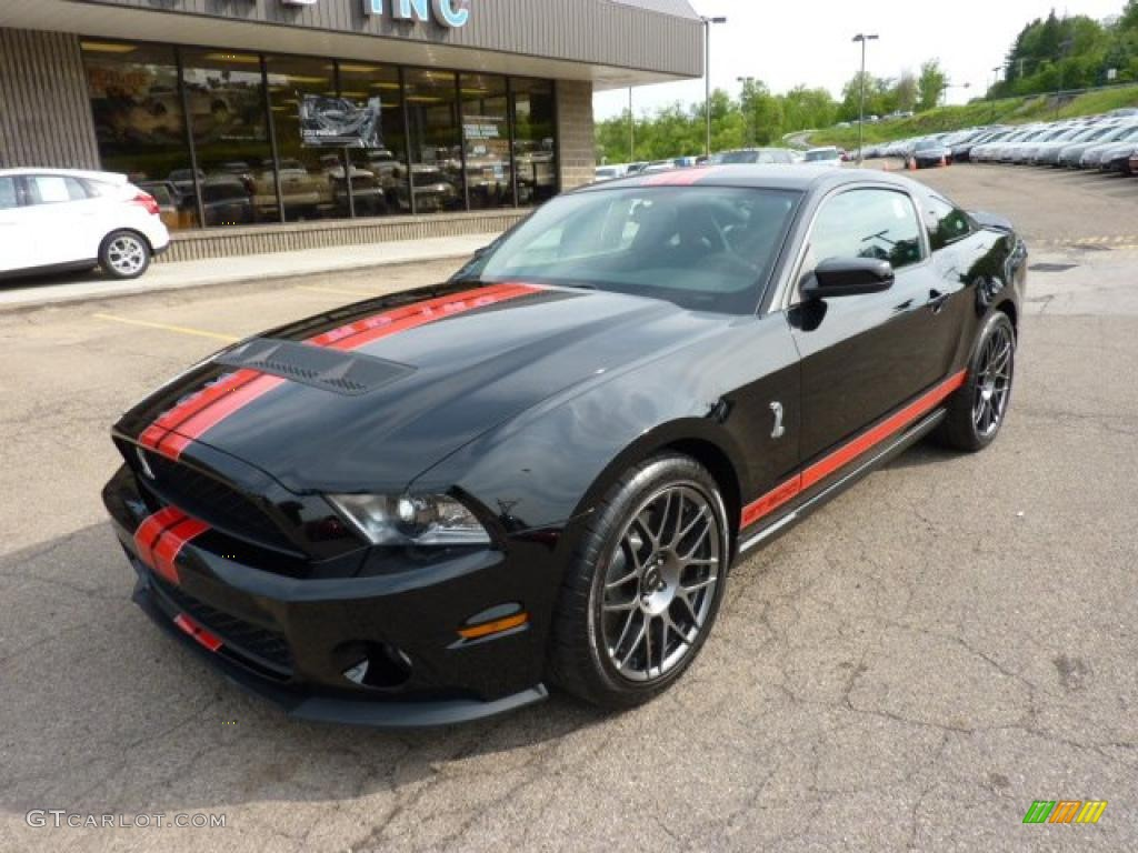 Black 2012 Ford Mustang Shelby Gt500 Svt Performance Package Coupe Exterior Photo 49817850