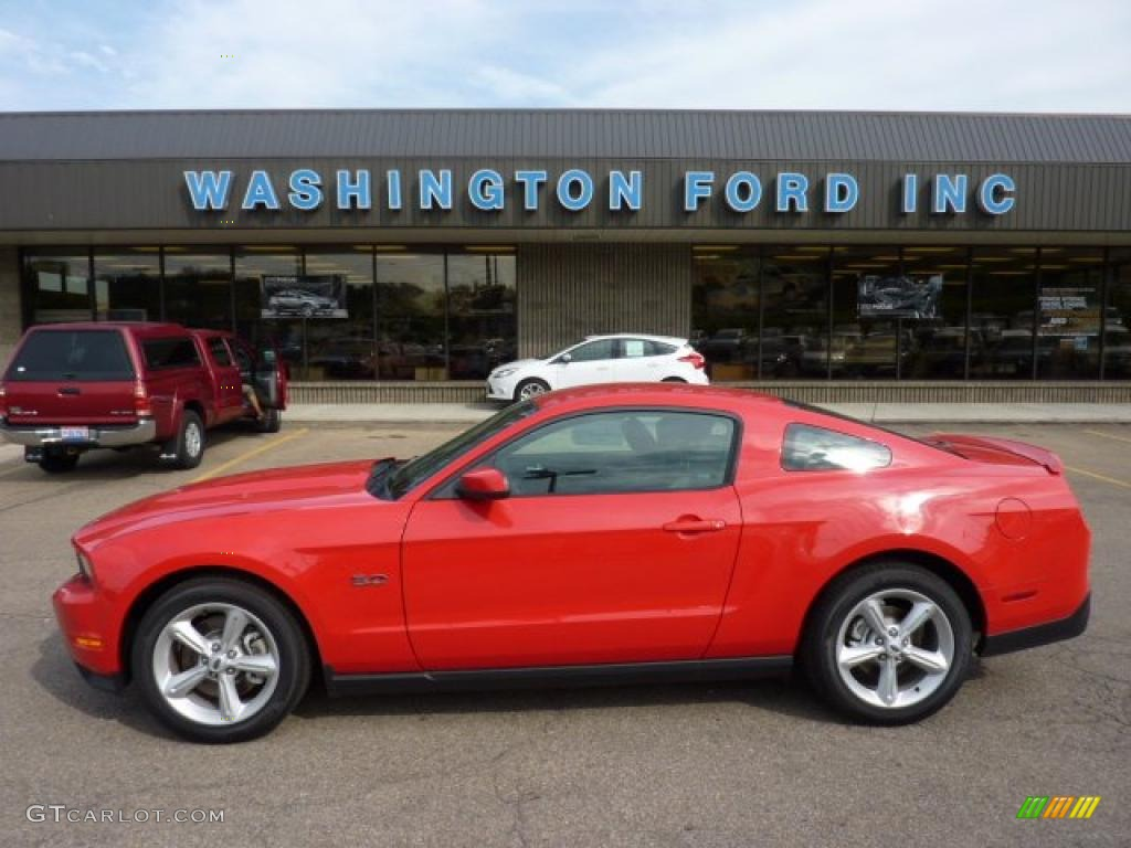 2011 Mustang GT Premium Coupe - Race Red / Charcoal Black photo #1