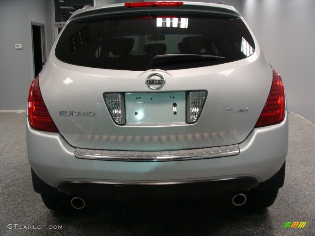 2007 Murano S AWD - Brilliant Silver Metallic / Charcoal photo #6