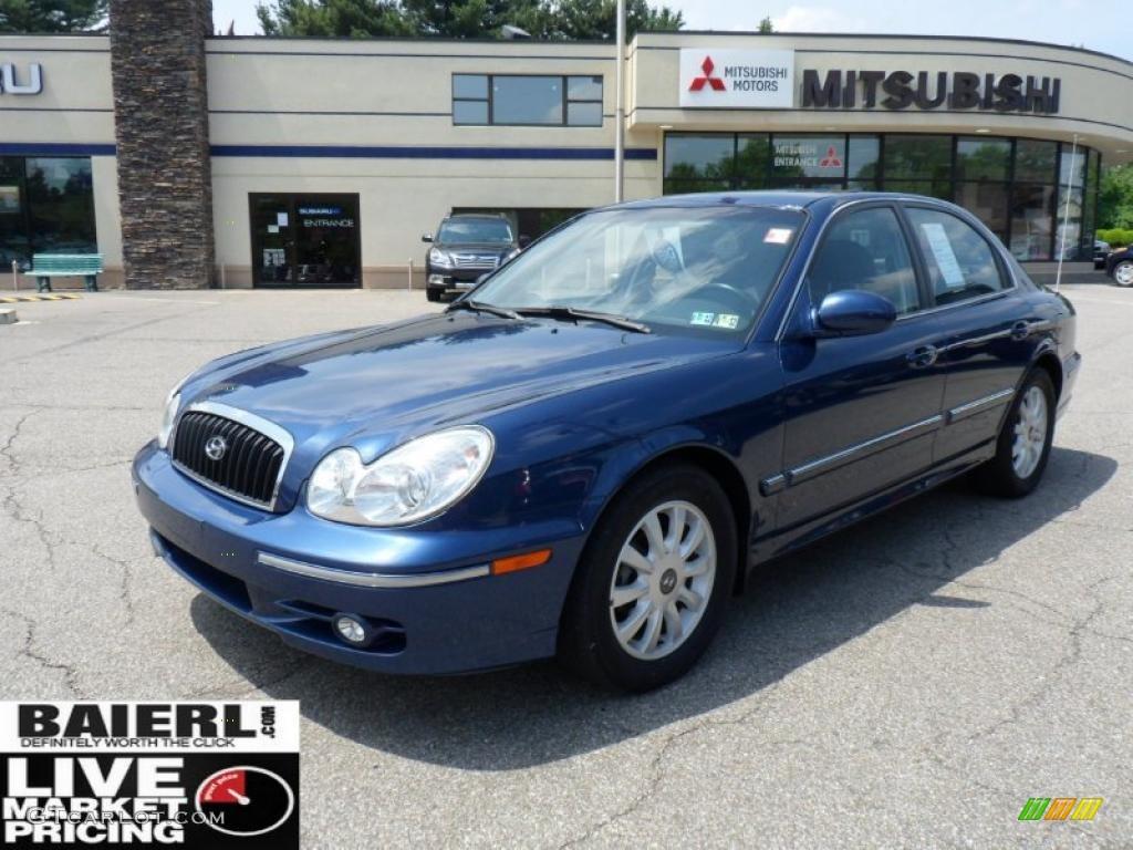 2003 Ardor Blue Metallic Hyundai Sonata Gls V6 49798928