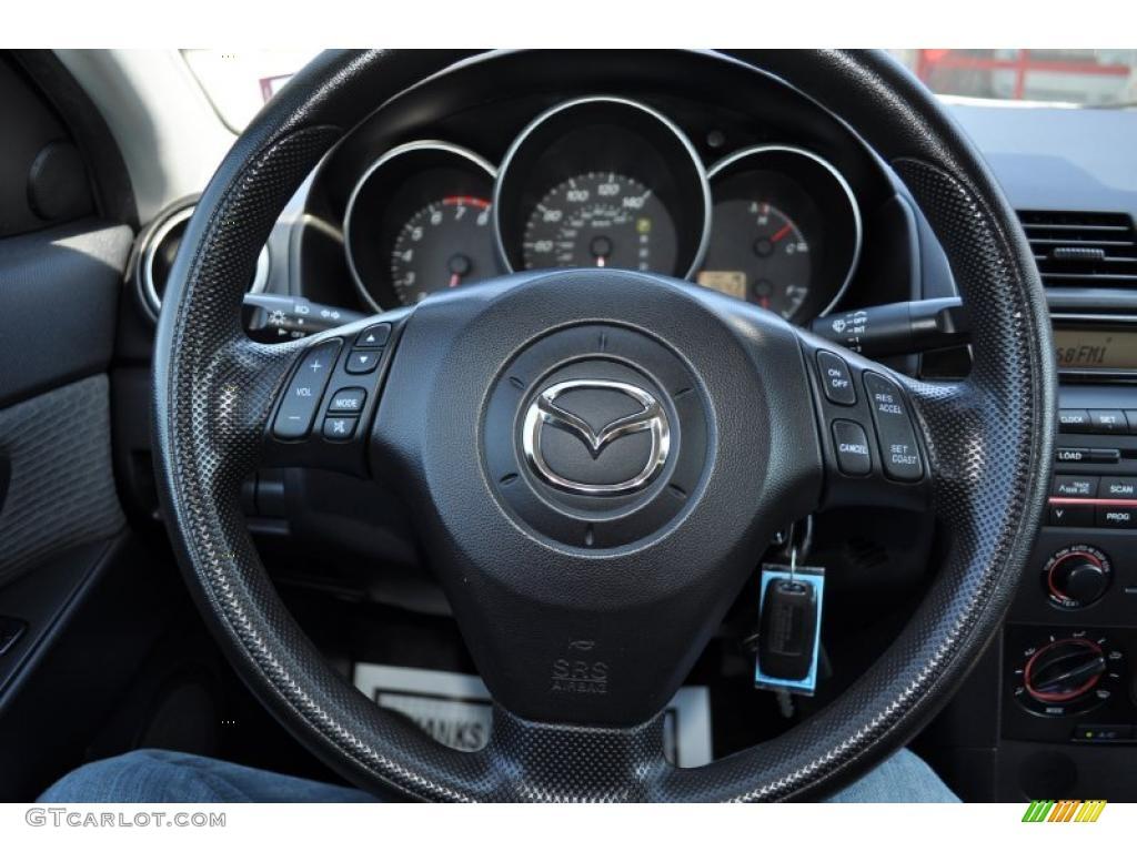 mazda 3 2005 black. 2005 mazda mazda3 i sedan black steering wheel photo 49823922 3